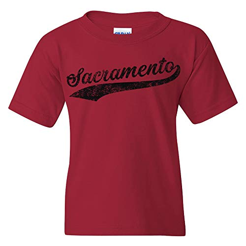 Sacramento Baseball Script - Hometown Pride, Pitcher Youth T Shirt - X-Large - Cardinal