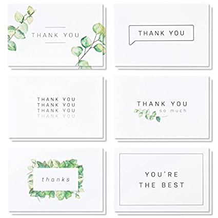 Amazon Com Blank Watercolor Thank You Cards 36 Assorted Boxed