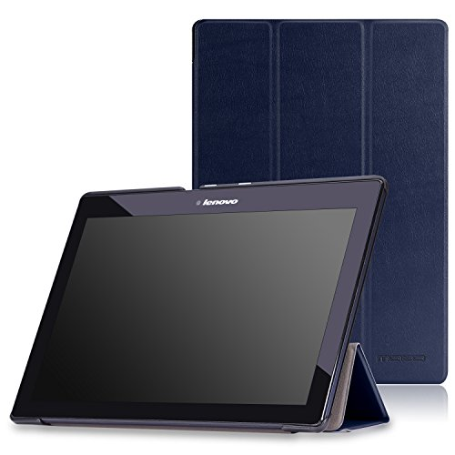 lenovo tab x103f tab 10 tab 2 a10 case moko ultra slim light weight cover with auto wake. Black Bedroom Furniture Sets. Home Design Ideas