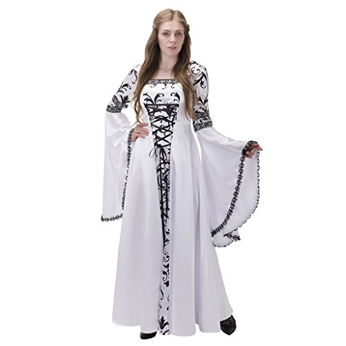 Edwardian Era Costumes For Sale (1791's lady Vintage Medieval/renaissance Costume Wedding Dresss NQ0039-L)