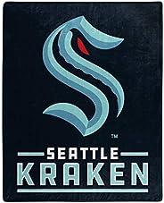 The Northwest Company NHL Seattle Kraken Unisex Interference Raschel Throw, Blue, 50 x 60, 1NHL/07040/0035/RET