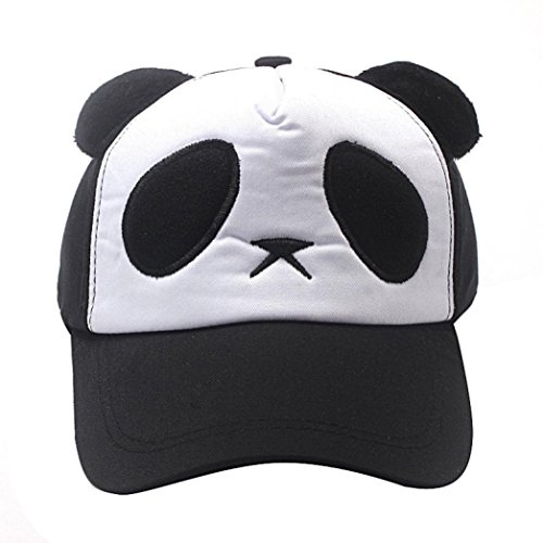 Usstore Kids Infant Headwear Hat Cotton Cute Panda Baseball Sun Cap (Black)