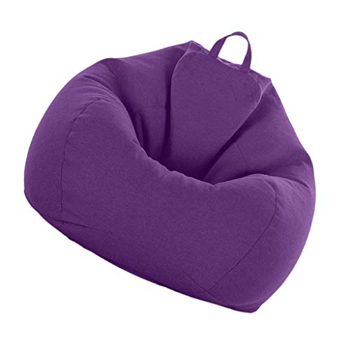 Fityle Adult Size Bean Bag Cover, Large Beanbag Without Filling, Beanbag for Stuffed Animals Covers Only - Purple
