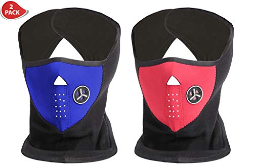 ETCBUYS Neoprene Indoor/Outdoor Winter Ski Mask-Color Options, 2 Piece -