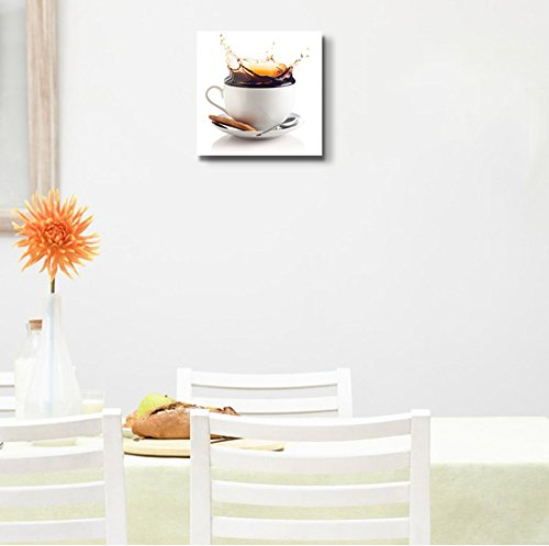 Coffee Splash in a Cup Against White Background Wall Decor
