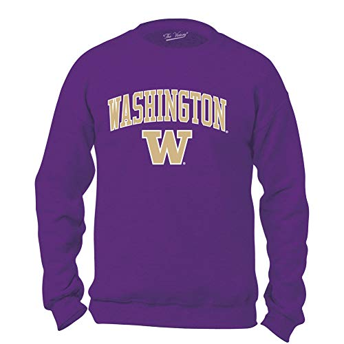 Elite Fan Shop Washington Huskies Crewneck Sweatshirt Arch Purple - ()