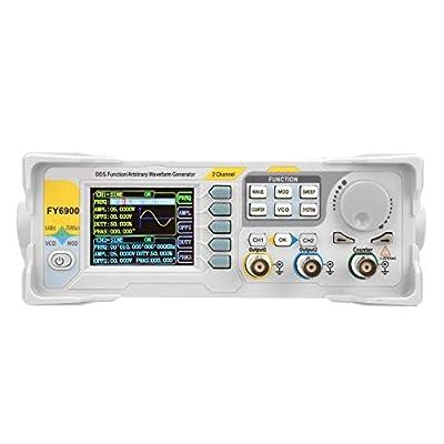 Signal Generator,FY6900 Sine 0-40 MHZ 2.4in TFT LCD Screen DDS Function Waveform High Precision Digital Signal Meter Pulse Source Generators Measuremen VCO Burst 250MSa/s Frequency Meter (US)
