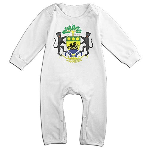 Gabon Coat - yimo Coat of Arms of Gabon Casual Newborn Baby 6-24 Months Baby Climbing Clothing Baby Long Sleeve Garment
