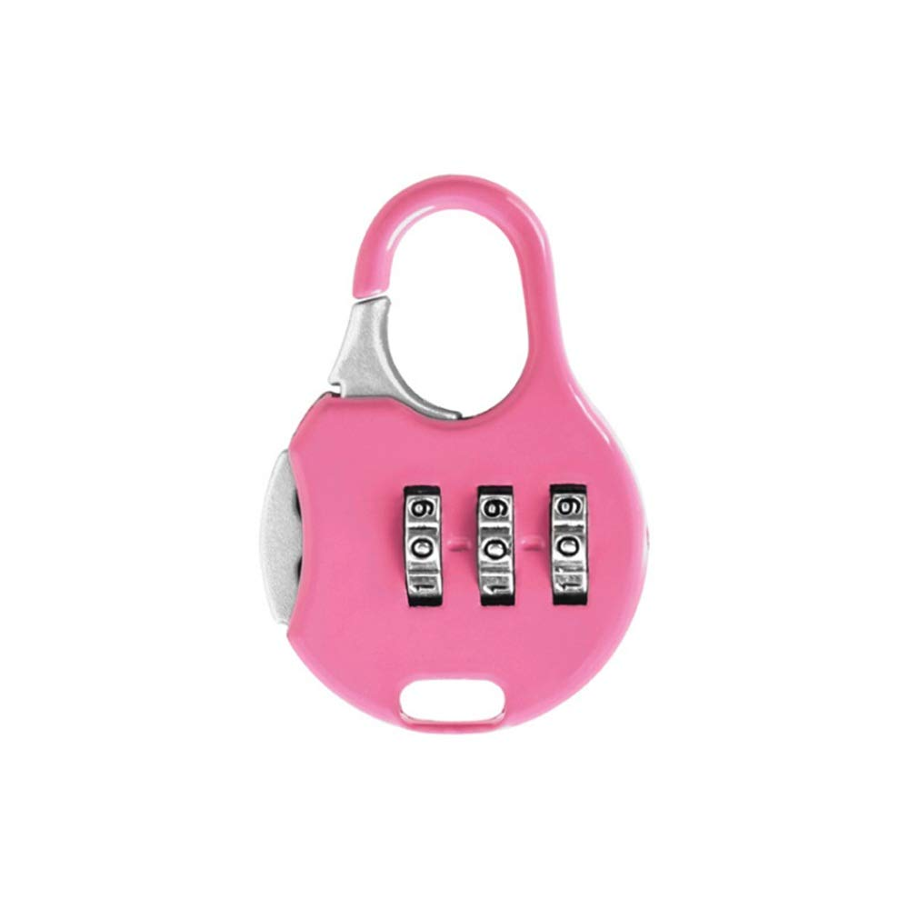 Locker Luggage Digit Padlock Pack Of 12pcs Luggage Locks Travel Combination Code Number Padlock Password Security Padlock For Suitcase Briefcase Backpack Cabinet for School Gym Locker ( Color : Pink )