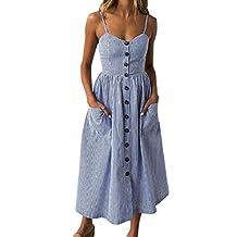 GONKOMA Women Strap Beach Dress Floral Printed Dress Sundress Summer Off Shoulder Strappy Swing Dress
