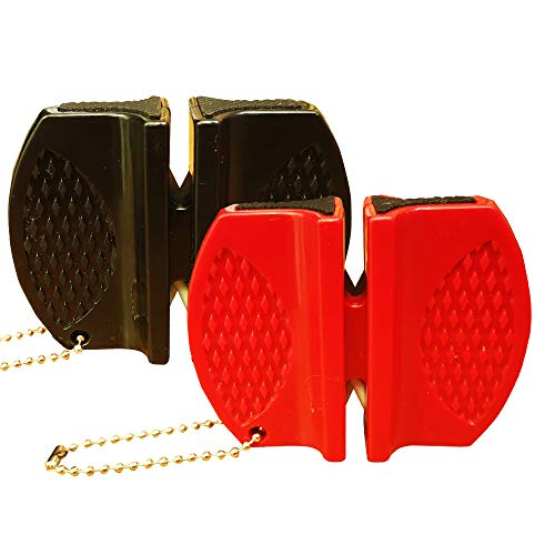 pengwang Mini Portable Sharpen Keychain Sharpener,for Folding Pocket Knife Hunter Knife Outdoor,Fast Sharpening and Survival Hunting Camping Tools Manual Knife Edge Sharpener,Tungsten Steel (2 Pack)