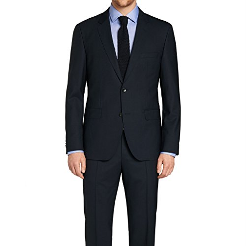 MYS Mens Custom Made Classic Wool 2 Button Notch Tuxedo Suit Pants Set Black Tailored