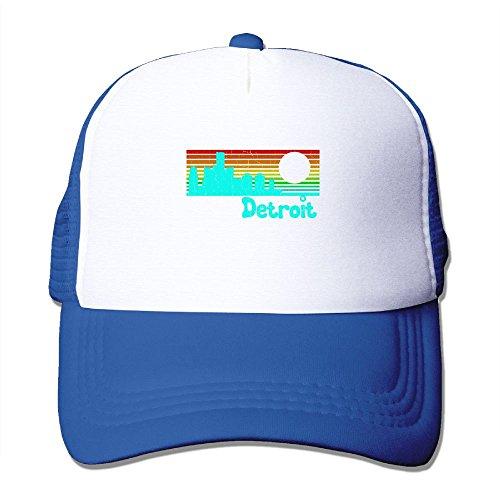 Oiir Ooiip 1980s Vintage Retro Detroit Unisex Mesh Baseball Cap Dad Trucker Hats ()