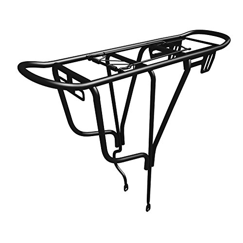 Front Mount Cargo Basket (Sportly Bike Cargo Rack - Heavy Duty Iron Bike Carrier; Durable yet Lightweight Bicycle Rack Secures Packs, Panniers and Trunk Bags; Rear Mount Assembly; Supports Up to 110 lbs. Won't)