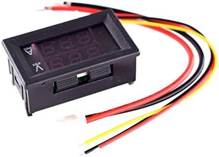 Shumo DC 0-100V 100A Digital Voltmeter Ammeter Dual Display Voltage Detector Current Meter Panel Amp Volt Gauge 0.28 1 Red Red LED