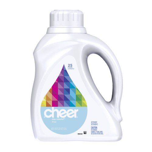 Cheer 2x Ultra Liquid Free & Gentle, 25 Loads, 40-Ounce(Packaging May Vary)