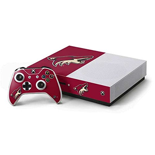 Arizona Coyotes Xbox One S Console and Controller Bundle Skin - Phoenix Coyotes Solid Background | NHL & Skinit Skin