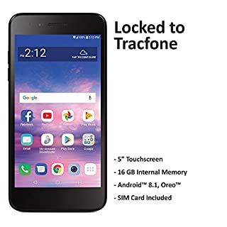 Tracfone Carrier-Locked LG Rebel 4 4G LTE Prepaid Smartphone - Black - 16GB - Sim Card Included - CDMA