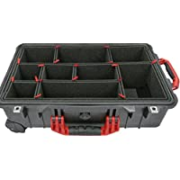 TrekPak Divider System for the Pelican 1510 case. Includes 2 Red handles & 2 Red latches.