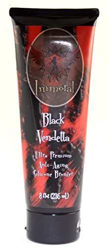 Immoral black vendetta 300xx advanced tanning lotion for Tattoo tanning lotion
