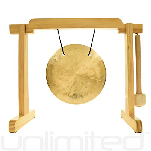 6'' to 7'' Gongs on the Tiny Atlas Stand - Natural by Unlimited