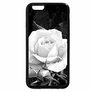 iPhone 6S Case, iPhone 6 Case (Black & White) - Last Rose for Cherie