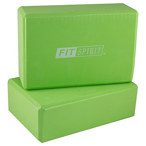 FIT SPIRIT Large Thick Yoga Mat Set w Blocks, Towels, Strap