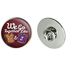 """Graphics and More Peanut Butter and Jelly Together PB&J Best Friends Metal 1.1"""" Tie Tack Hat Lapel Pin Pinback"""