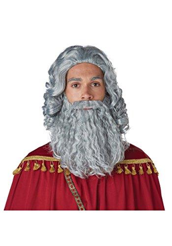 California Costumes Men's Biblical King Wig & Beard-Adult, Gray, One Size]()