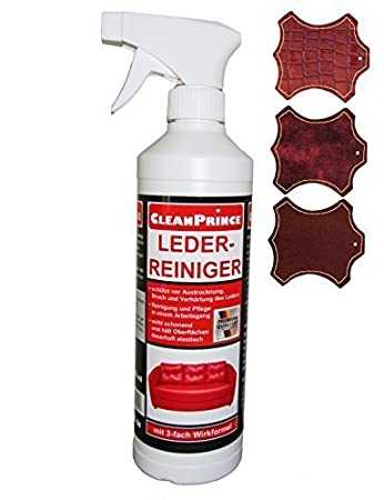CleanPrince Leder-Reiniger 0,5 Liter Lederreiniger Leder-Reiniger ...