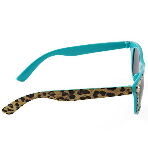 eac55587780 Sunny Love Women s Fashion Floral Print Plastic Frame Sunglasses  Unbreakable Frame outlet