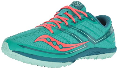 Saucony Women's Kilkenny XC7 Flat Track Shoe, Teal/Red, 6.5 M US by Saucony