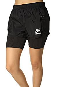 Women's Nike RU Fly 2 in 1 Track & Field Compression Shorts Black 644177-010 (M)