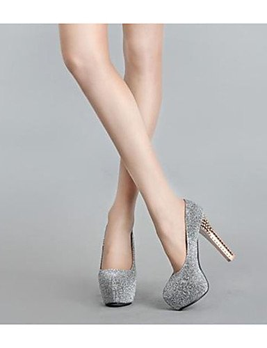GGX/Damen Schuhe Fleece Sommer Heels Heels Casual Stiletto Heel andere schwarz/blau/grau black-us8 / eu39 / uk6 / cn39