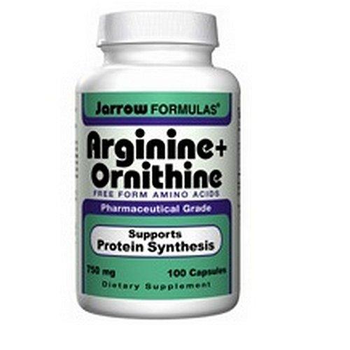 Jarrow Formulas arginine et l'ornithine, 100 Capsules