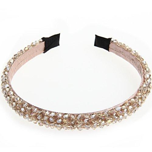 15mm Kristall Glas Perlen Haarreifen Haarschmuck Haarband für Damen Vintage