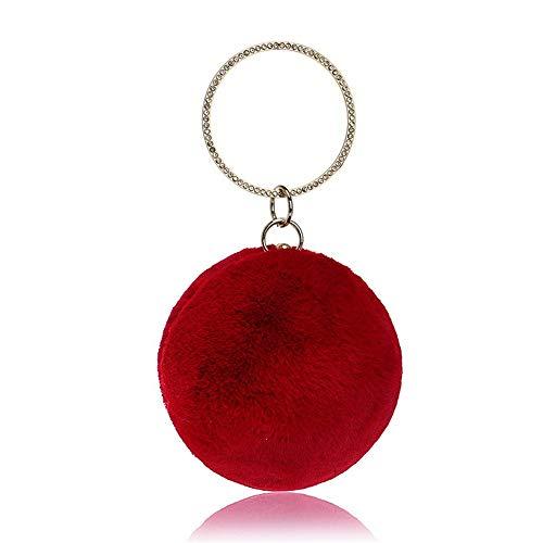 Rosso sferica Occasioni sera Pochette colore rosso Pochette da Pochette Sensexiao speciali Borse Occasioni fUqwCxF