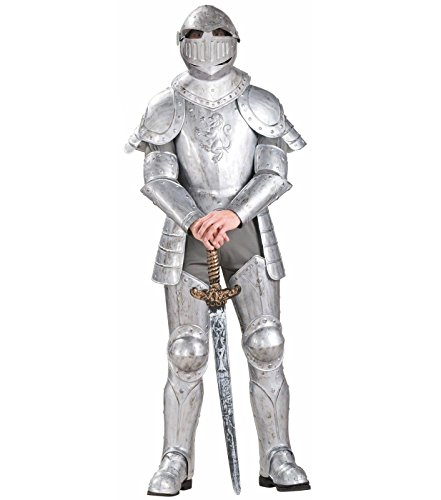 Shining Knight Costume (Forum Knight In Shining Armor Complete Costume, Silver, One Size)