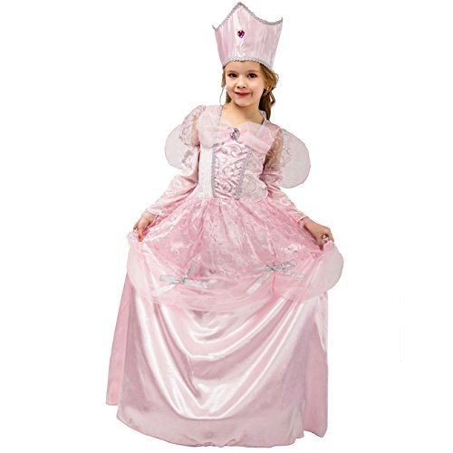 DSplay Kids Girl Good Witch Princess Dress (10-12Y) Pink ()