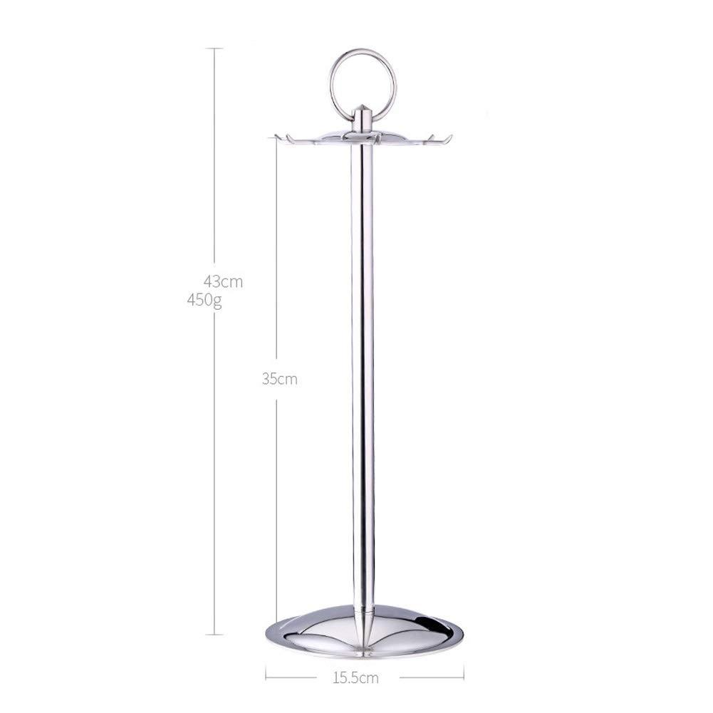 DUDDP Kitchen shelf stainless steel kitchen utensil holder//utensil organizer 360 degrees swiveling kitchen holder carousel holder utensils hanger with floating head//six hooks