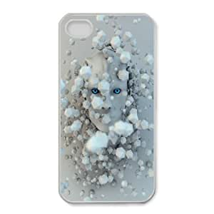 Plastic Durable Cover Gtvpn iPhone 4,4S Cell Phone Case White mask face balls Unique Phone Cases