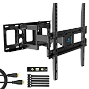 #LightningDeal TV Wall Mount Bracket Full Motion Dual Swivel Articulating Arms Extension Tilt Rotation, Fits Most 26-55 Inch LED, LCD, OLED Flat&Curved TVs, Max VESA 400x400mm and Holds up to 99lbs by Pipishell