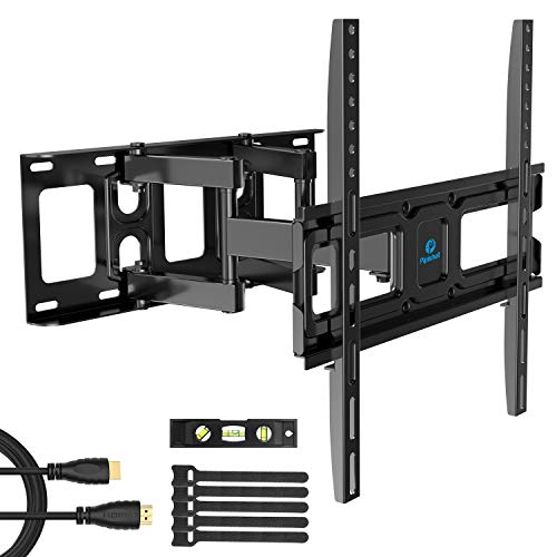 TV Wall Mount Bracket Full Motion Dual Swivel Articulating Arms Extension Tilt Rotation, Fits Most 26-55 Inch LED, LCD, OLED Flat&Curved TVs, Max VESA 400x400mm and Holds up to 99lbs -