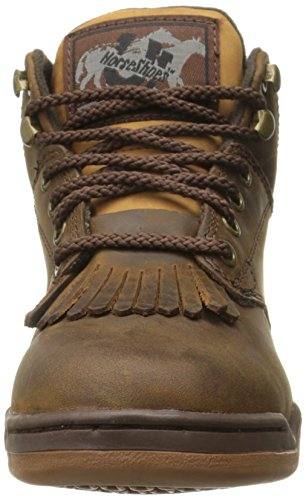 Western Roper Kiltie Chocolate Boot Women's Horseshoe qZAxrtZ