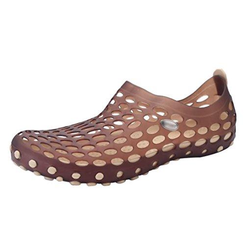 Été Sandales Léger Marron Plates Plage Poids Chaussures Trous Casual Amoureux Classique Dexinx de 4tYqw