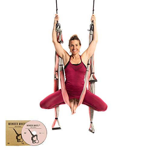 Find Discount YOGABODY Yoga Trapeze (Official) with DVD, Baby Pink - Yoga Inversion Swing