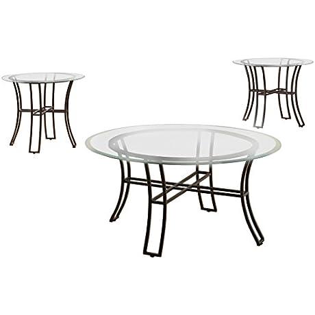 Furniture Of America Jacinda 3 Piece Contemporary Table Set