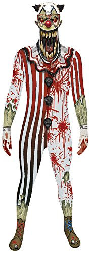 Morphsuits Jaw Dropper Clown Morphsuit Costume Adult