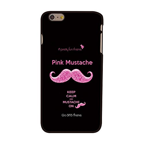 Apple iPhone 6S 6 Plus Mustache Moustache slim Coque de protection rigide pour Noir decui Noir Plastique rigide étui de protection