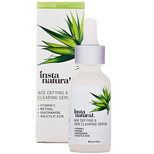 41tBQUVx0HL - InstaNatural Vitamin C Anti Aging Skin Clearing Serum - Wrinkle, Cystic Acne, Fine Line, Pigmentation, Pore Minimizer & Dark Spot Corrector for Face - Retinol, Hyaluronic, & Salicylic Acid - 1oz